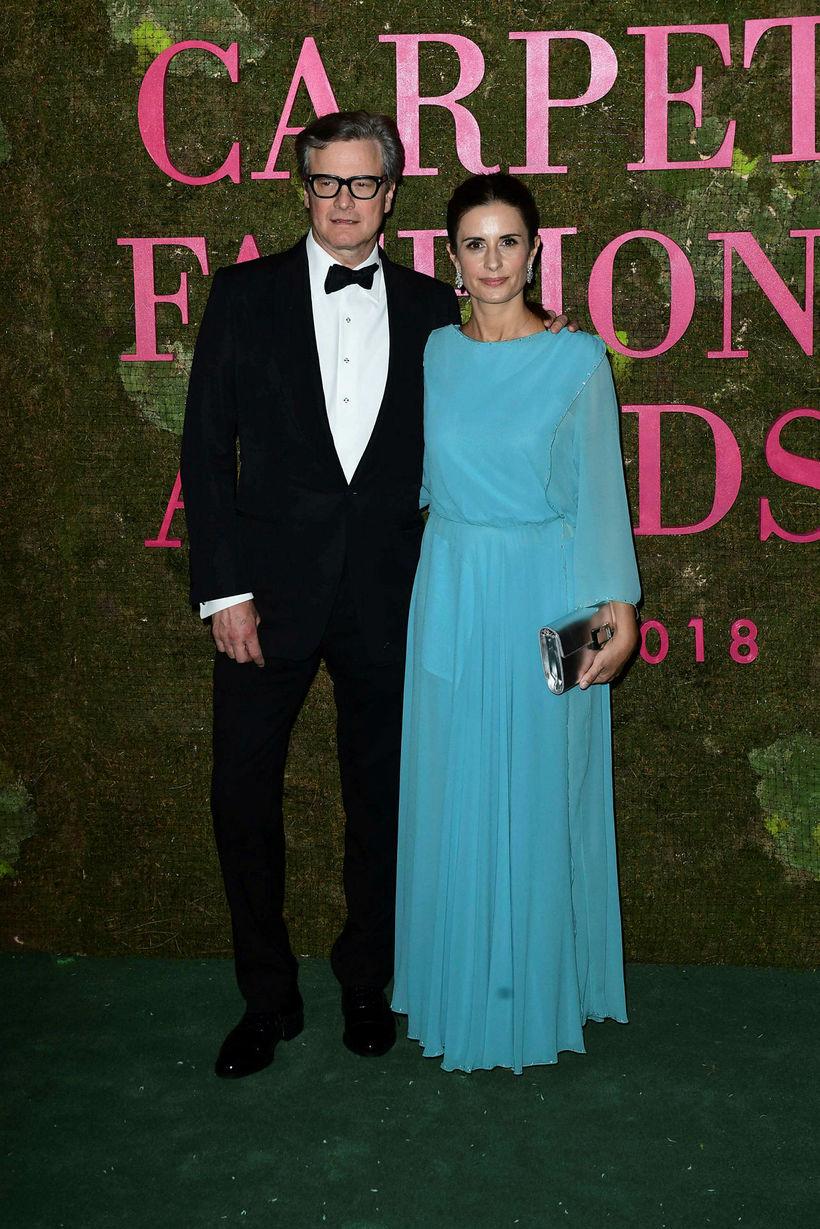 Leikarinn Colin Firth og eiginkona hans, Livia Giuggioli.