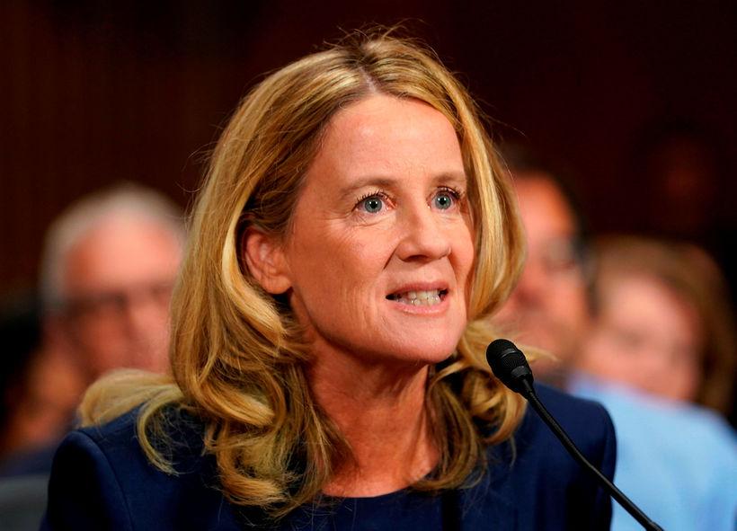 Christine Blasey Ford, sem sakað hefur Brett Kavanaugh um kynferðislega ...