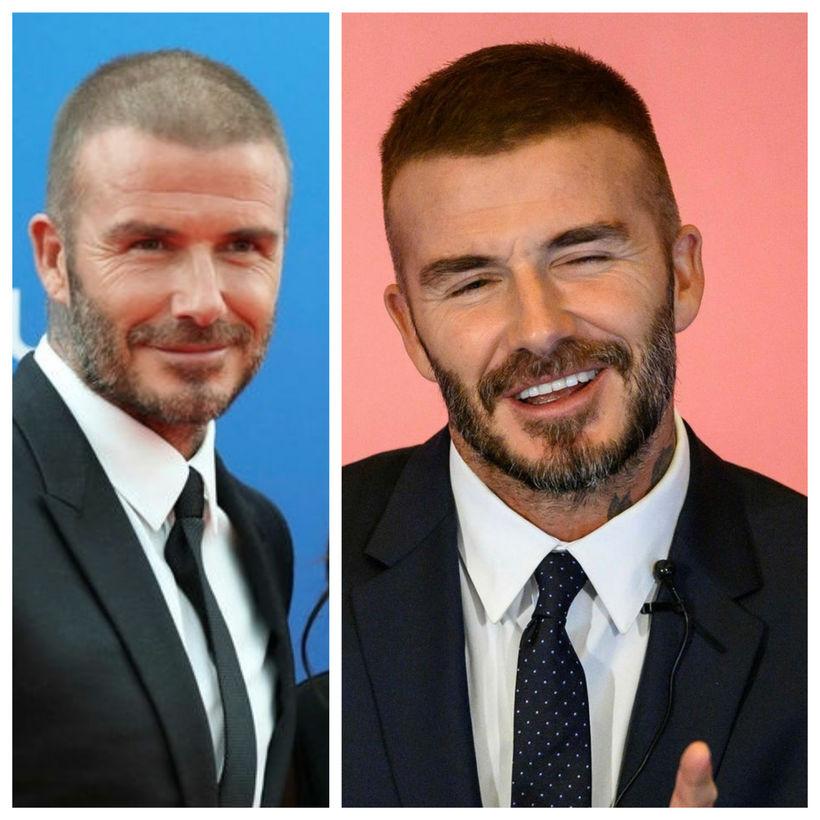 David Beckham lætur ekki oft sjá sig með þunnt og ...