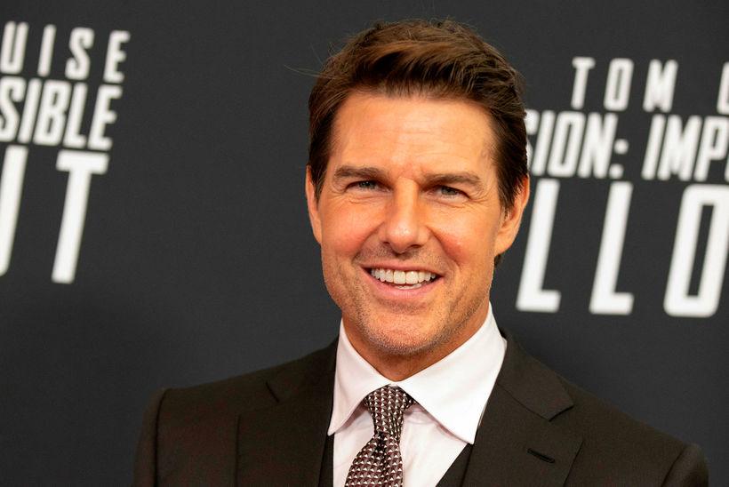 Tom Cruise á frumsýningu Mission Impossible - Fallout fyrr á ...
