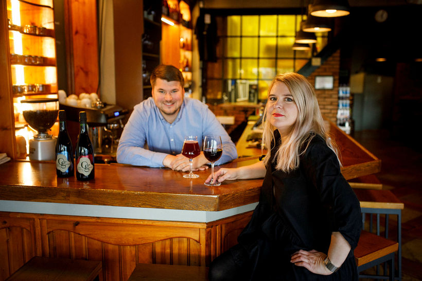 Ragnheiður Axel and Liljar Már who have formed brewery Og ...