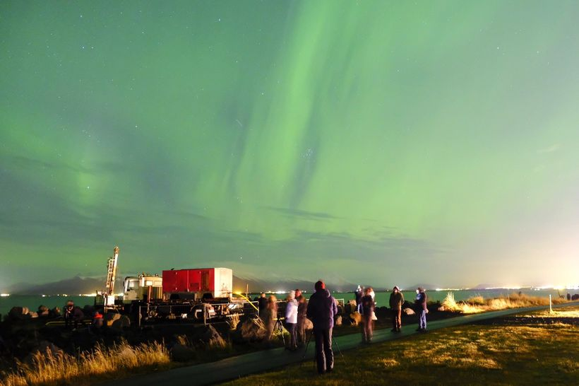 Northern lights at Grótta last night.