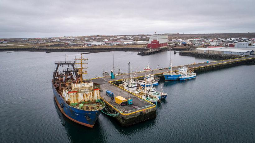 Rússneski togarinn Orlik við bryggju í Njarðvíkurhöfn.