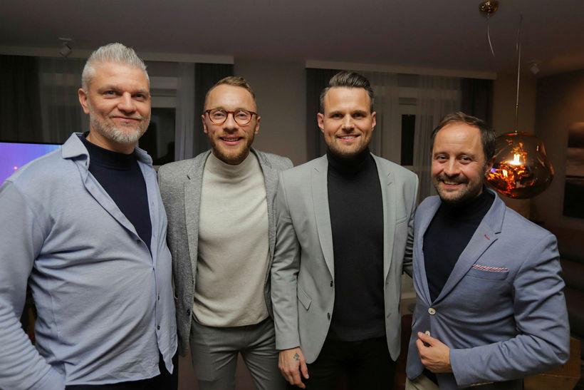 Einar Scheving, Ari Bragi Kárason, Kristján Grétarsson og Gissur Páll ...