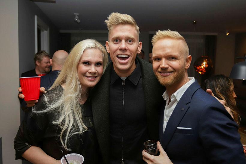 Sara Dís Hjaltested, Jón Jónsson og Friðrik Ómar.