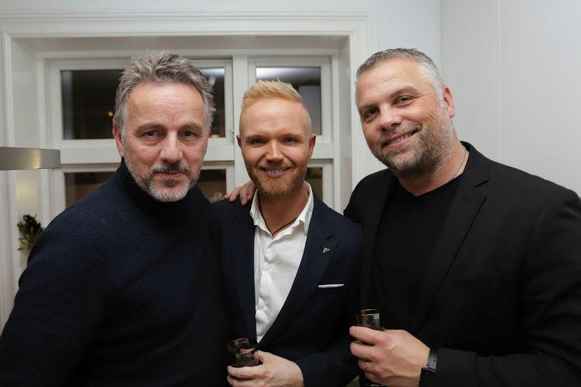 Jökull Jörgensen, Friðrik Ómar og Jörundur Kristinsson.