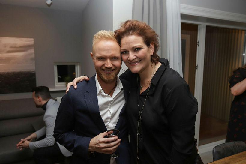Friðrik Ómar og Hera Björk Þórhallsdóttir.