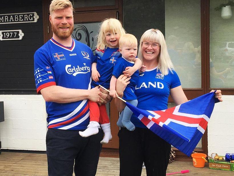 Greta Mjöll Samúelsdóttir ásamt manni sínum William Óðni Lefever og ...