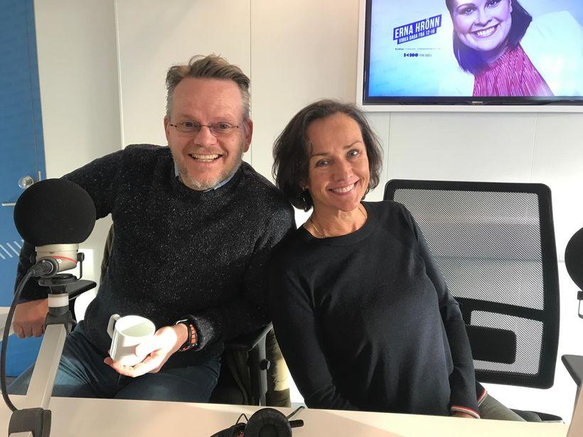 Gunnar og Sigrún rifjuðu upp leik sinn fyrr á árum, ...