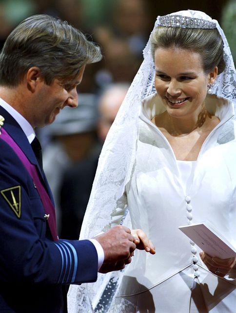 Phillipe kóngur í Belgíu og drottning hans Mathilde þegar þau ...