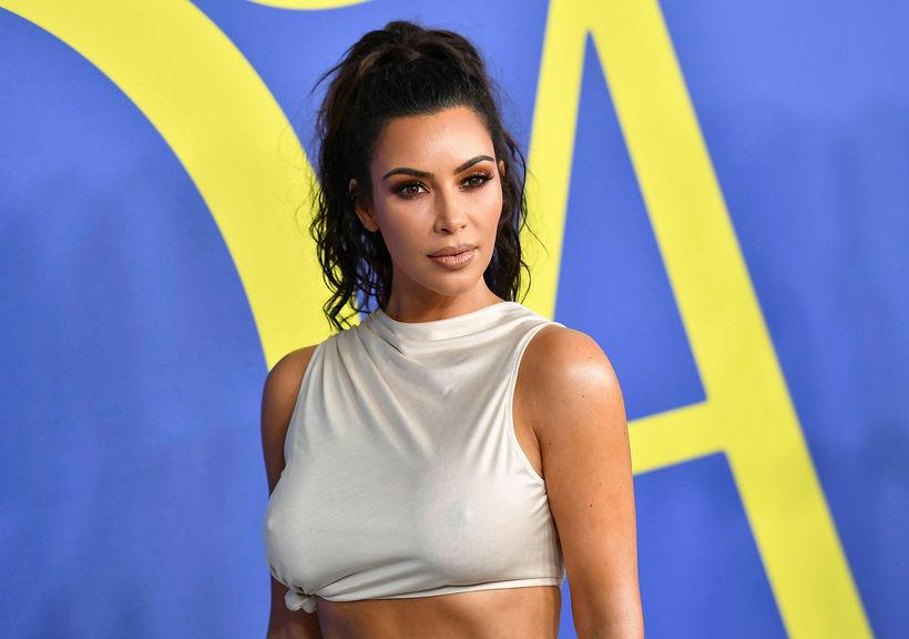 Kim Kardashian er í góðu formi.
