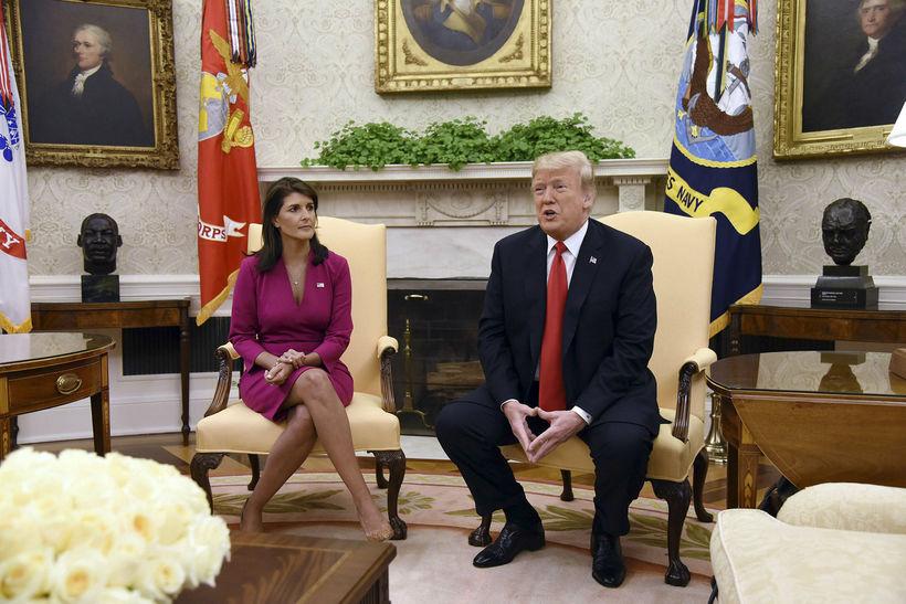 Donald Trump og Nikki Haley fóru yfir óvænta uppsögn Haley ...