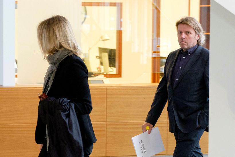 Jón Ásgeir Jóhannesson í Landsrétti vegna Aurum-málsins 2018.