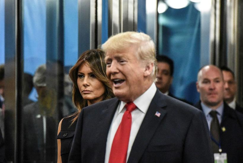Melania og Donald Trump.