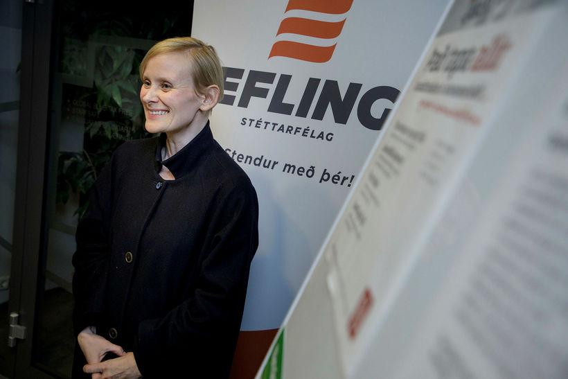 Sólveig Anna Jónsdóttir er formaður Eflingar. Mynd úr safni.