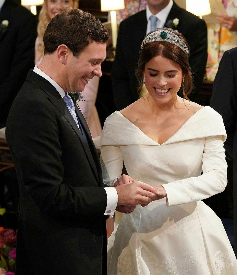 Jack Brooksbank og Eugenie prinsessa.