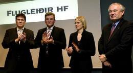 Hannes Smárason, , Jón Karl Ólafsson, forstjóri Icelandair, Ragnhildur Geirsdóttir ...