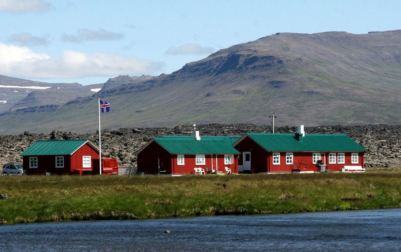 Veiðihúsið við Haffjarðará.