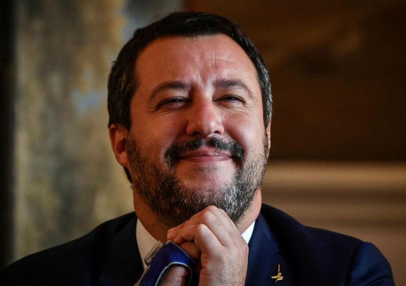 Matteo Salvini sagði á blaðamannafundi í dag að þessi ákvörðun …