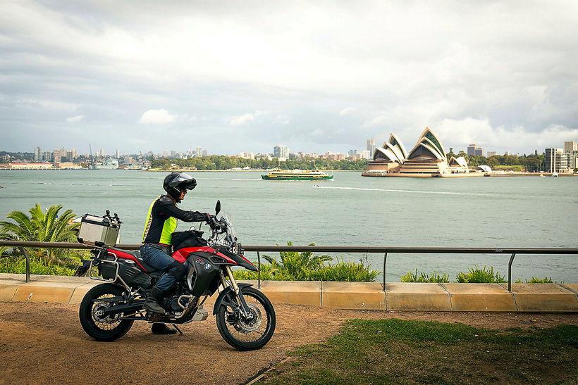"""Fyrir framan óperuhúsið í Sydney. """"Eftir þennan dag fannst mér ..."""