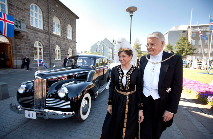Former President of Iceland, Ólafur Ragnar Grímsson and his wife, ...