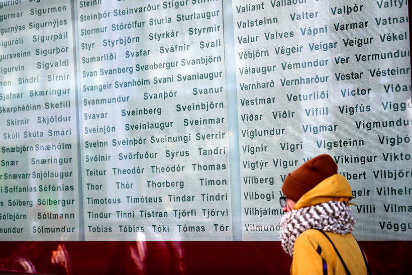 A list of Icelandic names.