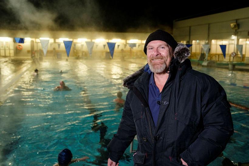 Swimming coach Brynjólfur Björnsson.