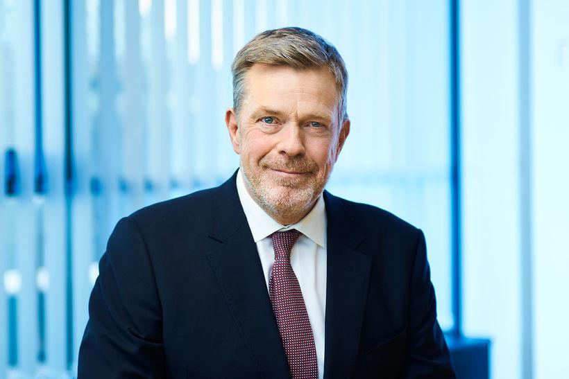 Höskuldur H. Ólafsson, bankastjóri Arion banka, er sáttur við starfslok ...