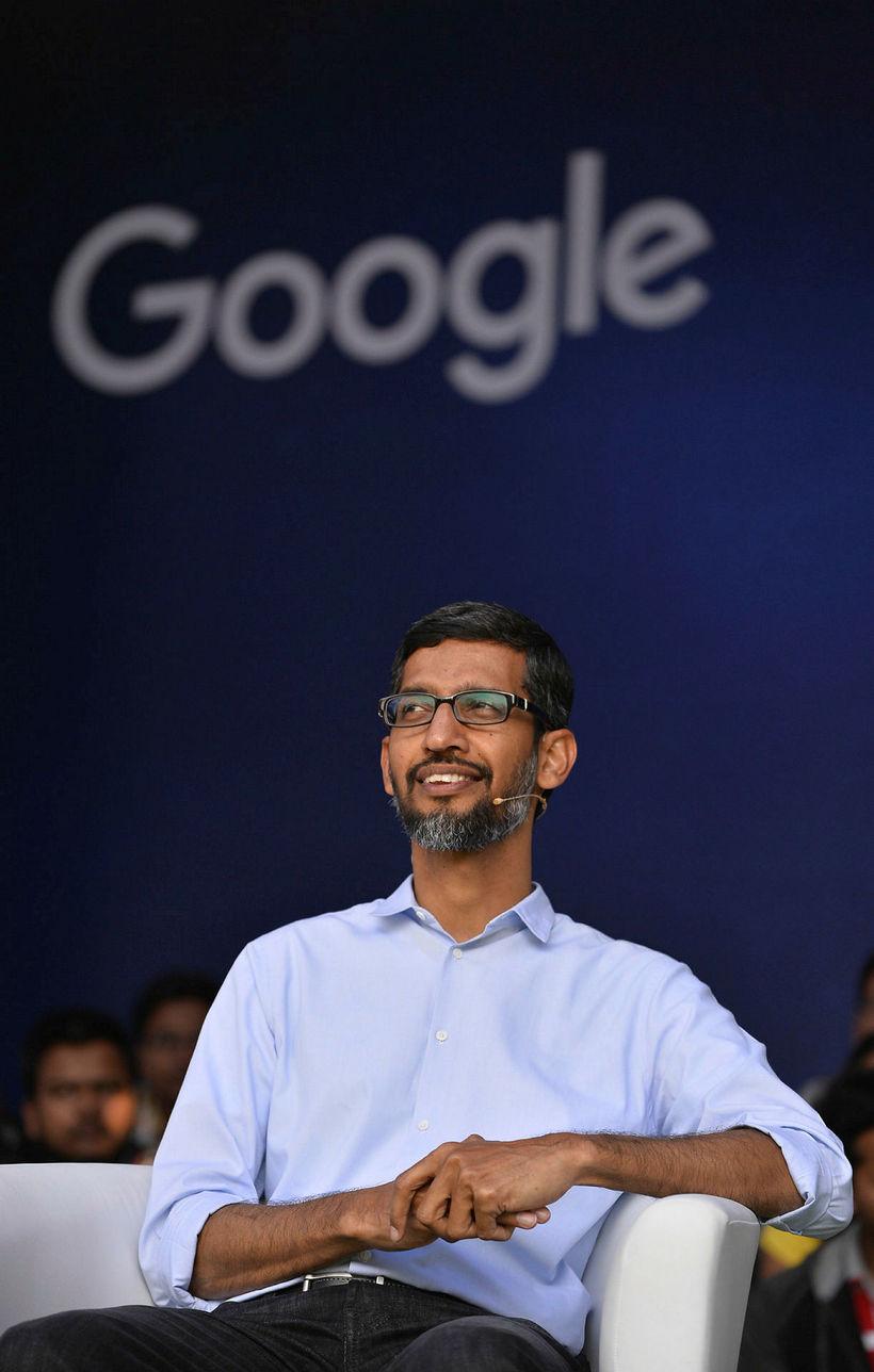 Sundar Pichai forstjóri Google segist deila reiði starfsmanna.