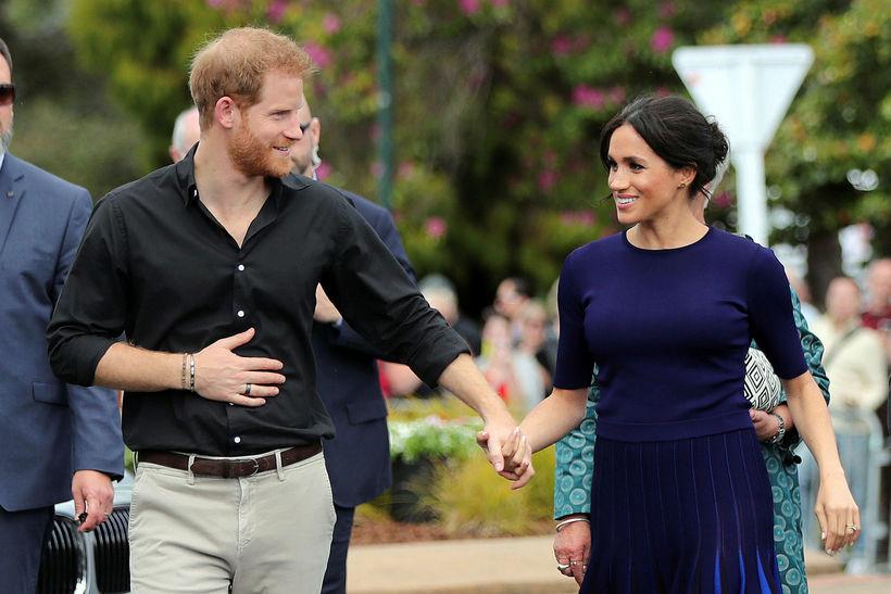 Harry og Meghan virtust ekki kippa sér upp við gegnsætt ...