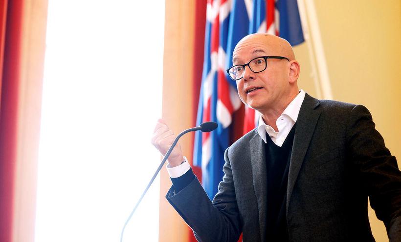 Yves Daccord, framkvæmdastjóri alþjóðaráðs Rauða krossins, flutti erindi í Háskóla ...