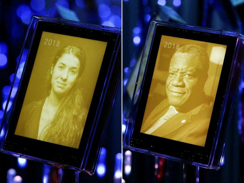 Nadia Murad og Denis Mukwege.