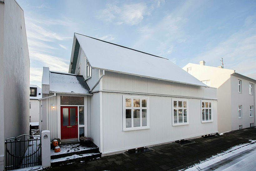 ... Home For Sale In Central Reykjavik. The Building Is In A Typical  Icelandic Style.