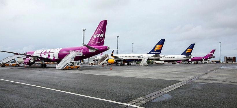 Um 6.000 starfsmenn hafa starfað hjá WOW air og Icelandair ...