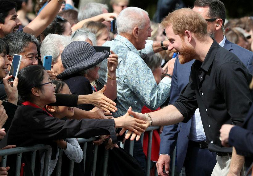 Hár Harry er farið að þynnast.