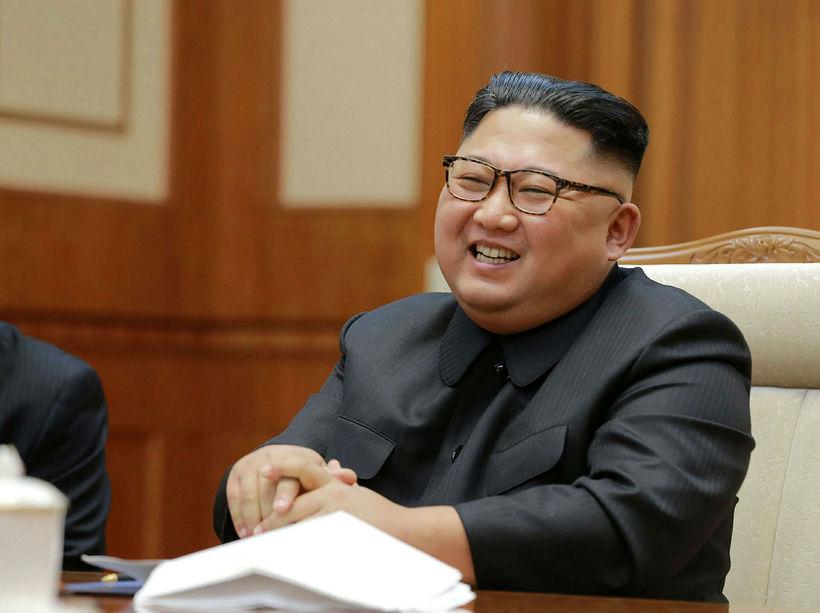 Kim Jong-un, leiðtogi N-Kóreu.