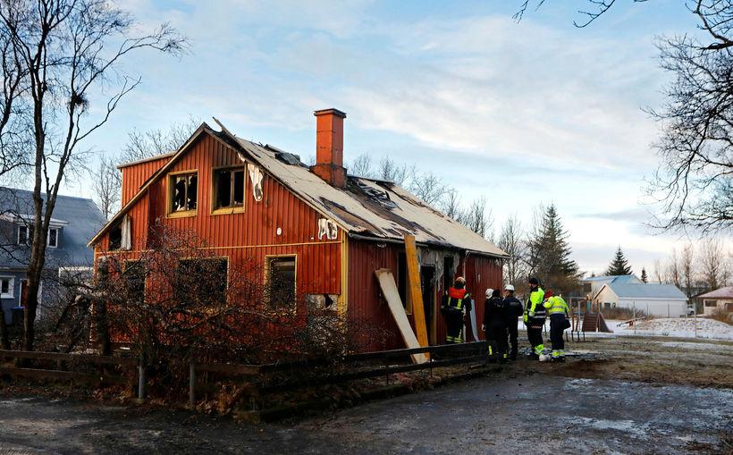Brunarústirnar að Kirkjuvegi 18 á Selfossi.
