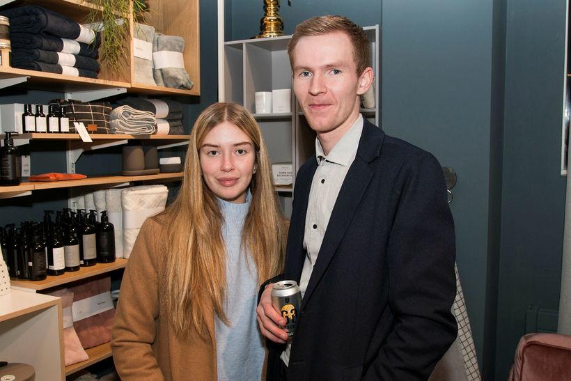 Amy Phernambucq og Dagur Skúlason.