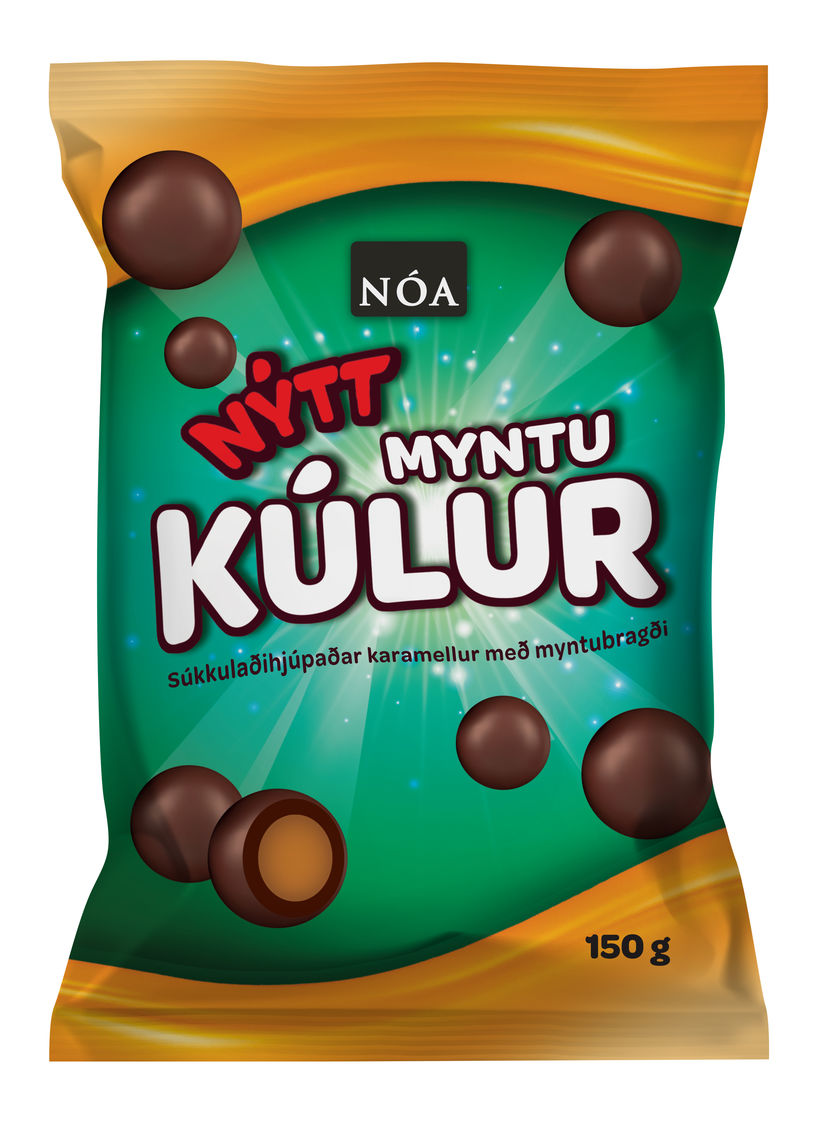 "Peppermint ""kúlur"" or chocolate balls."
