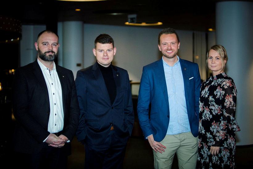 Gísli Freyr Valdórsson, Stefán Einar Stefánsson, Birgir Örn Guðjónsson og ...