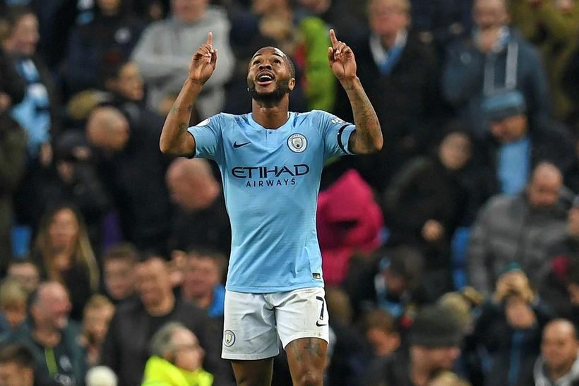 Raheem Sterling er hæstánægður hjá Manchester City enda hefur honum ...