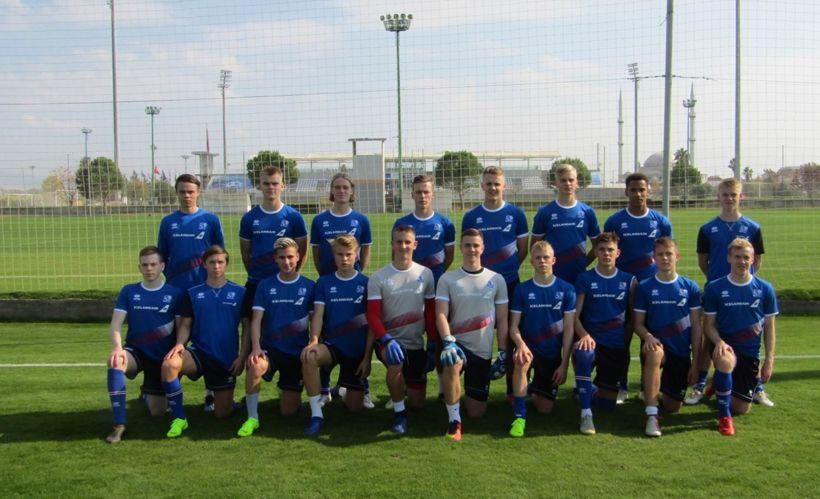 Íslenska U19 ára liðið í Tyrklandi.