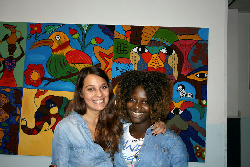 Chiara Saturnino, sem starfar hjá UNICEF í Palermo og Fatou …