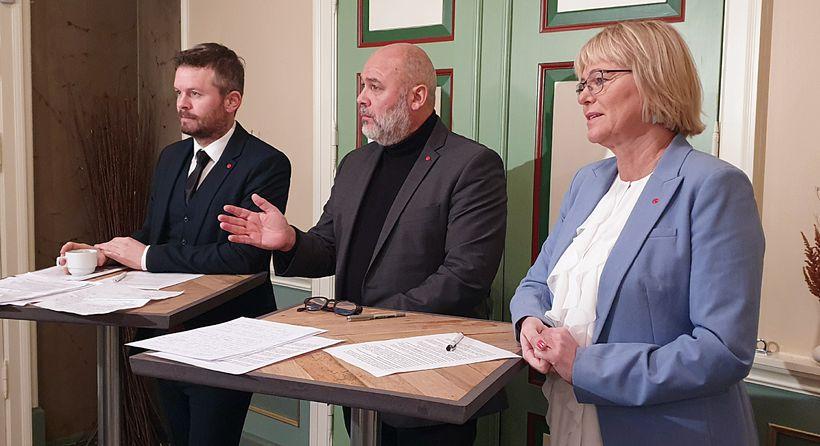 Ágúst Ólafur Ágústsson, Logi Már Einarsson og Oddný Harðardóttir, þingmenn ...