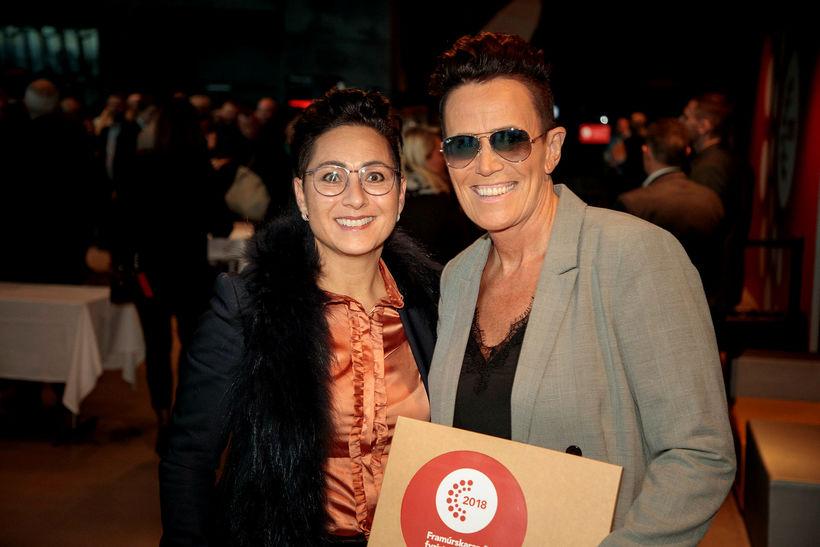 Sandra Antonsdóttir og Alda Gylfadóttir.