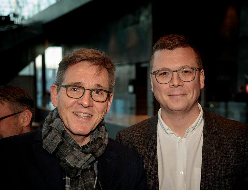 Feðgarnir Magnús Haukur Magnússon og Magnús Hrafn Magnússon frá Sigurjónsson ...