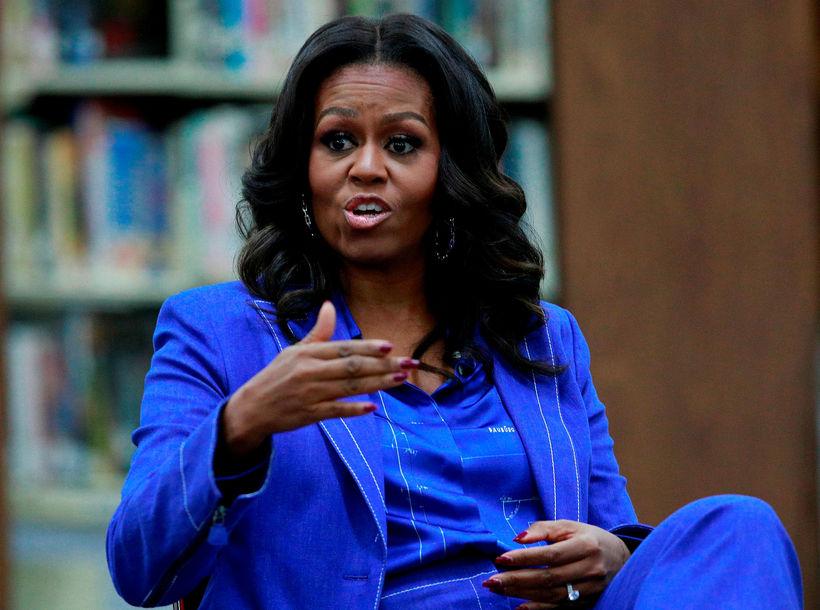 Michelle Obama er ekki með svona slétt hár frá náttúrunnar ...