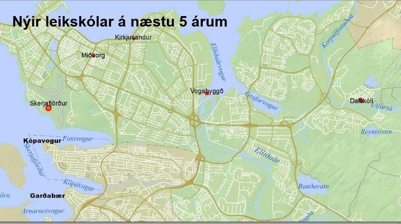 Fimm nýir leikskólar í jafn mörgum hverfum verða byggðir á ...