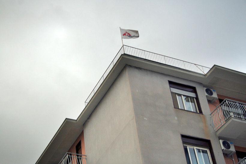 Miðstöð Lækna án landamæra, Médecins Sans Frontières, (MSF) í Catania.
