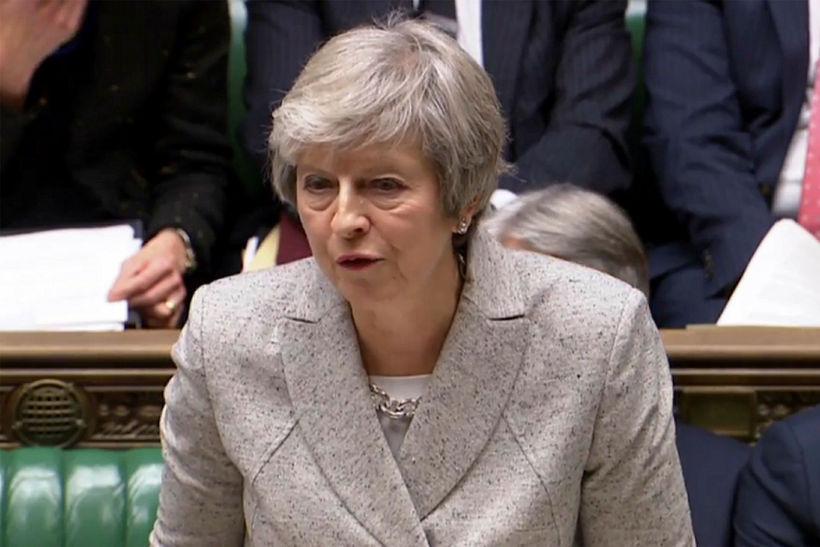 Theresa May, forsætisráðherra Bretlands, segir að Brexit sé skref í ...